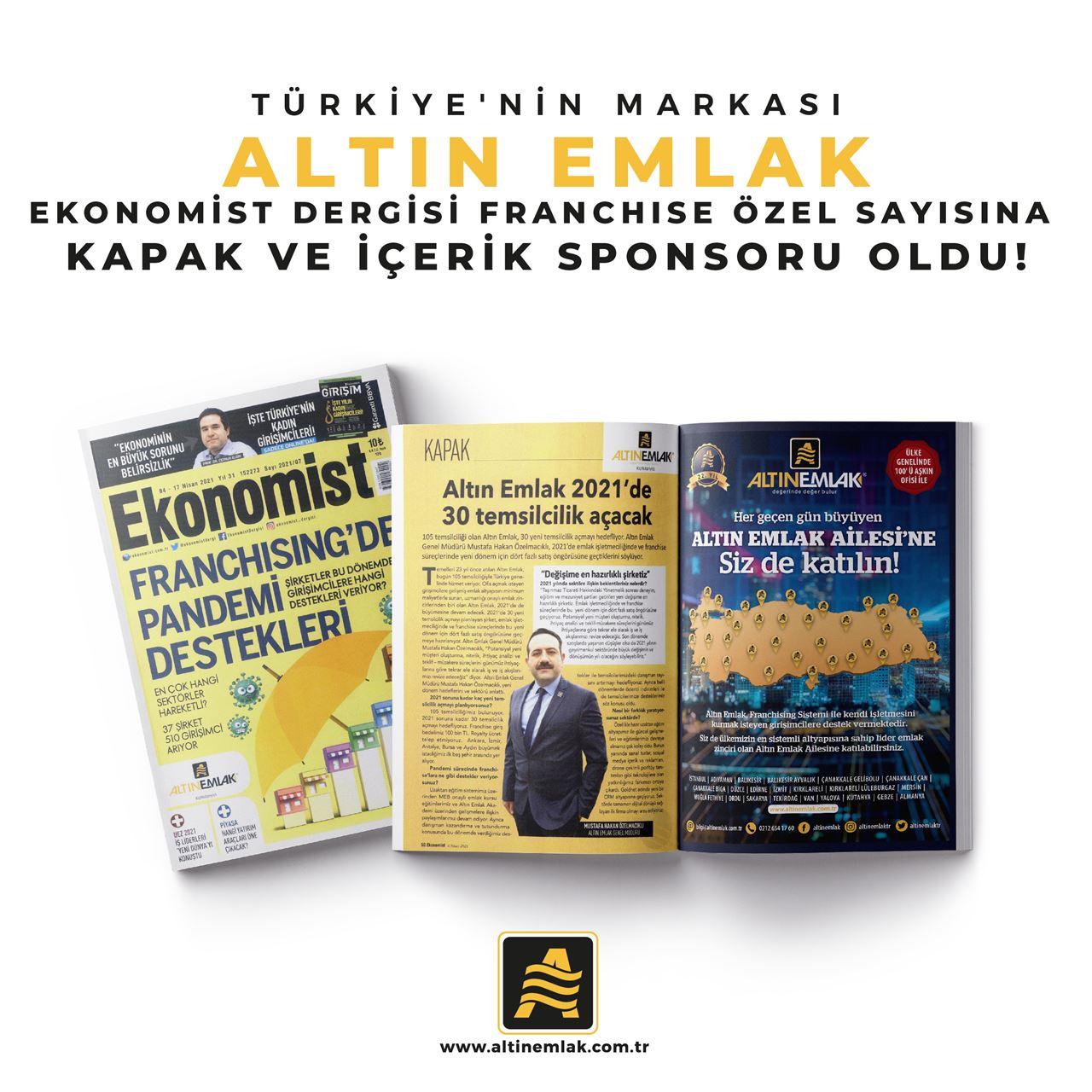 Ekonomist Dergisinin Franchise Özel Sayısının Sponsuru ALTIN EMLAK!
