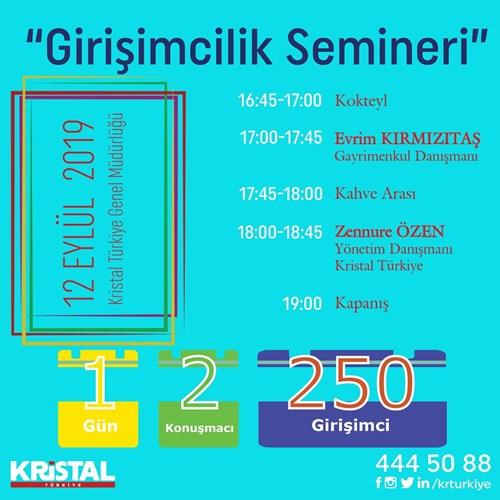 Kristal Türkiye Girişimcilik Semineri