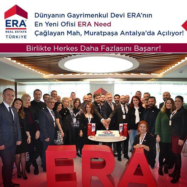 Dünyanın Gayrimenkul Devi ERA'nın En Yeni Ofisi ERA Need Gayrimenkul, Çok Yakında Çağlayan Mah. Muratpaşa / Antalya'da Açılıyor!