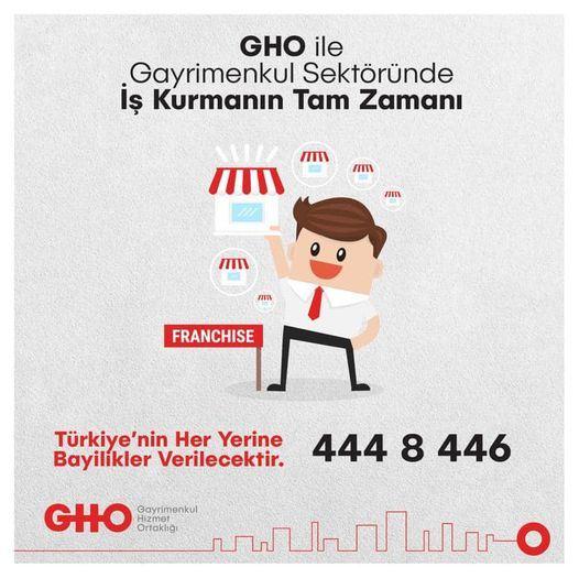 GHO Franchise Sistemine Katılmak için Bize Ulaşın.