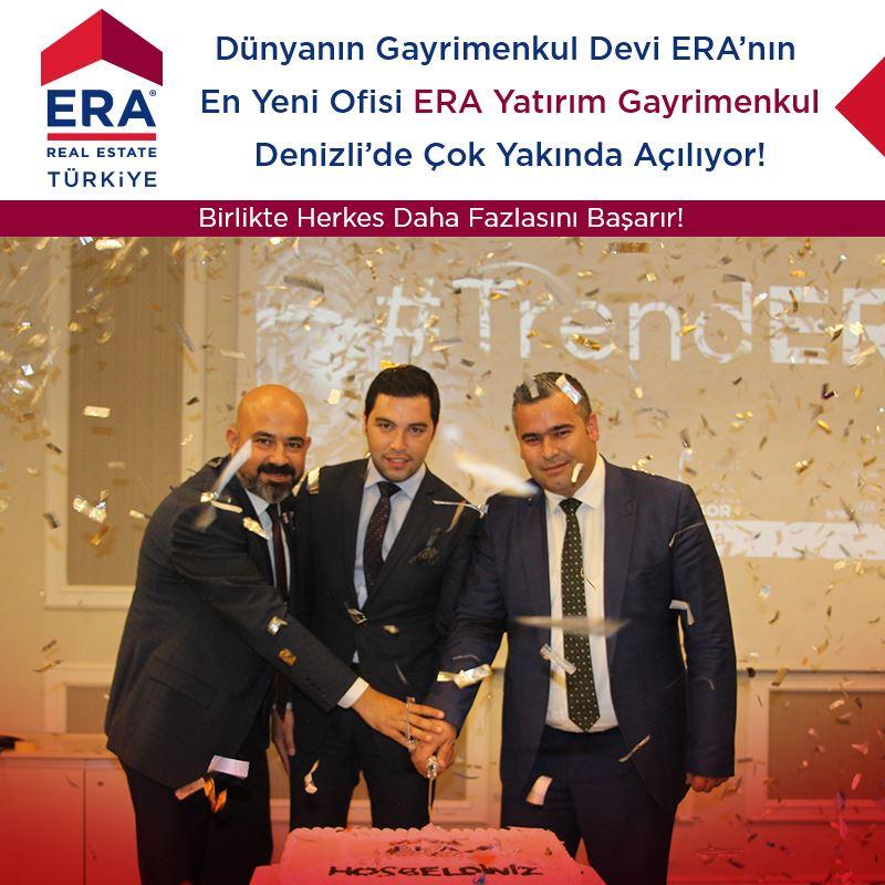 Dünyanın Gayrimenkul Devi ERA' nın En Yeni Ofisi ERA Yatırım Gayrimenkul Denizli'de Çok Yakında Açılıyor!