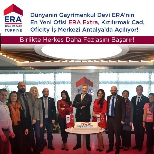 Dünyanın Gayrimenkul Devi ERA'nın En Yeni Ofisi ERA Extra, Kızılırmak Caddesi, Oficity İş Merkezi Antalya'da Çok Yakında Açılıyor!