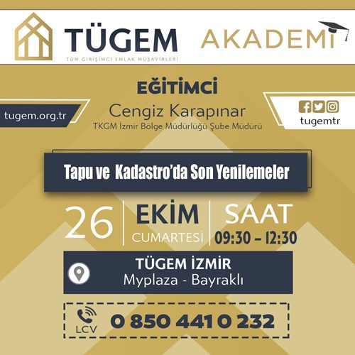 TÜGEM İzmir Tapu Eğitimi