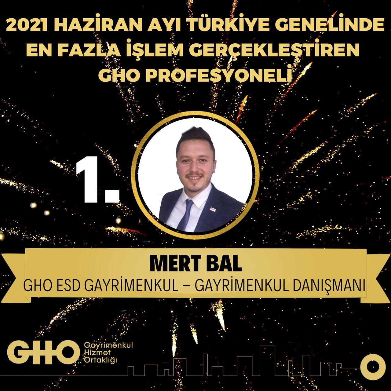 2021 Haziran Ayı Türkiye Geneli En Fazla İşlem Gerçekleştiren GHO Profesyonelleri