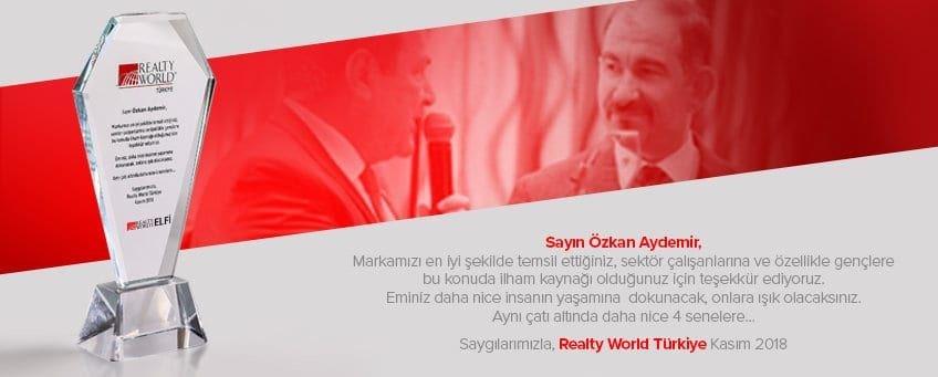 Realty World Türkiye Tebrik