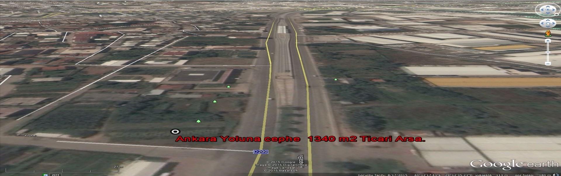 Ankara Yoluna cephe 1.340 m2 Ticari Arsa.