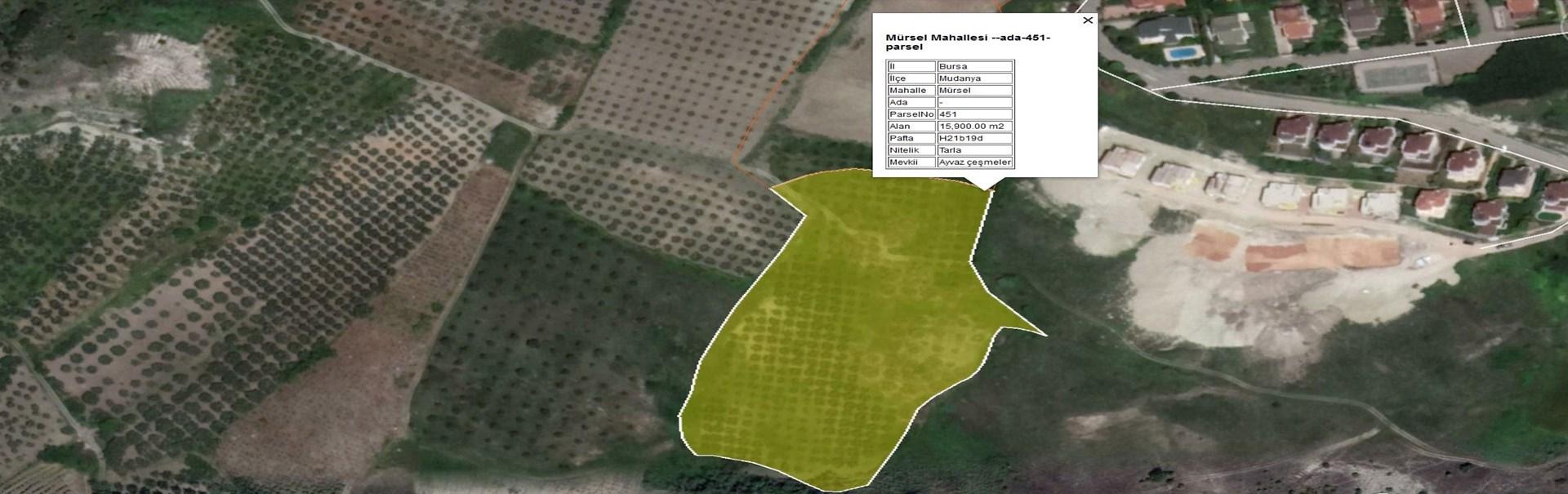 İmar Sınırı Yatırımlık Satılık 15.900 m2 Arazi.