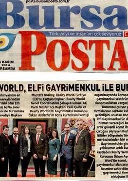 Realty World, Elfi Gayrimenkul İle Bursa'da