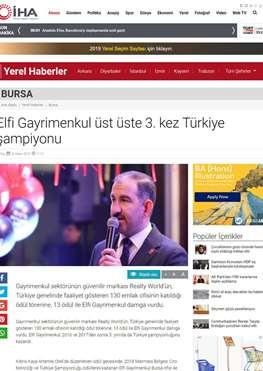 """İHA'dan """"Üst üste 3. kez Türkiye şampiyonu"""" Başlığı"""