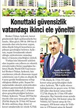 Yeni Marmara Gazetesi - Konuttaki Güvensizlik Vatandaşı İkinci Ele Yöneltti
