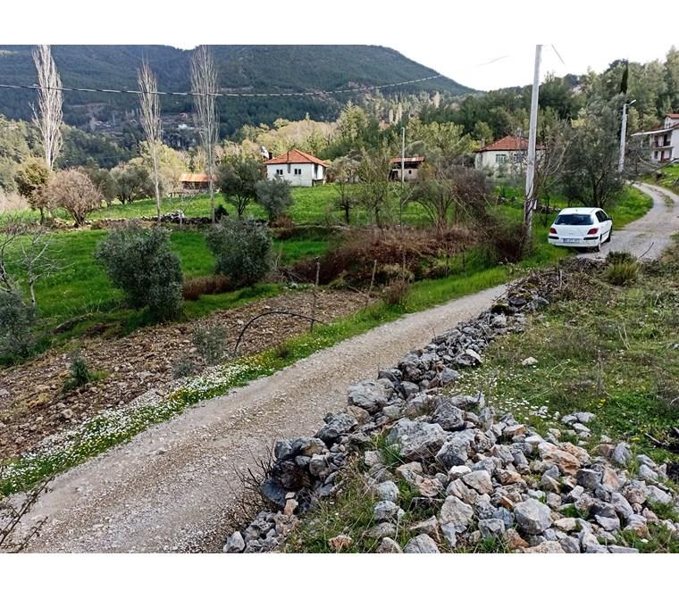 Dalaman Gürleyk Köyünde satılık 2223 m2 tarla ,Yerleşim alanında