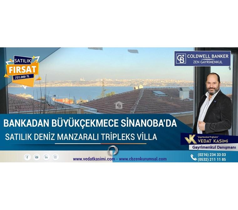 Bankadan Büyükçekmece Özlem Sahil Sitesinde Satılık FIRSAT Villa