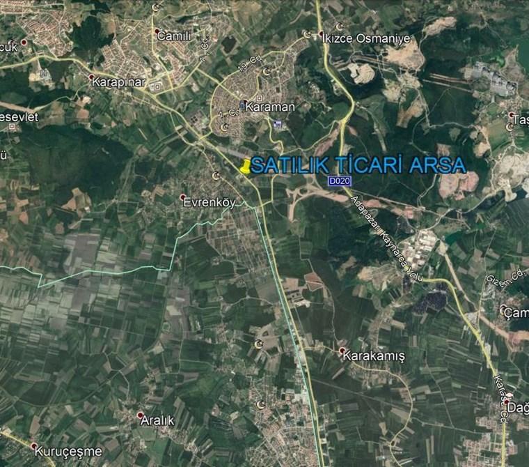 CAMİLİ YOLU ÜZERİNDE TİCARİ İMARLI 55 m CEPHELİ KUPON ARSA