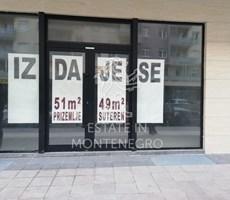 Podgorica, City Kvart'da 100m² Kiralık Dükkan