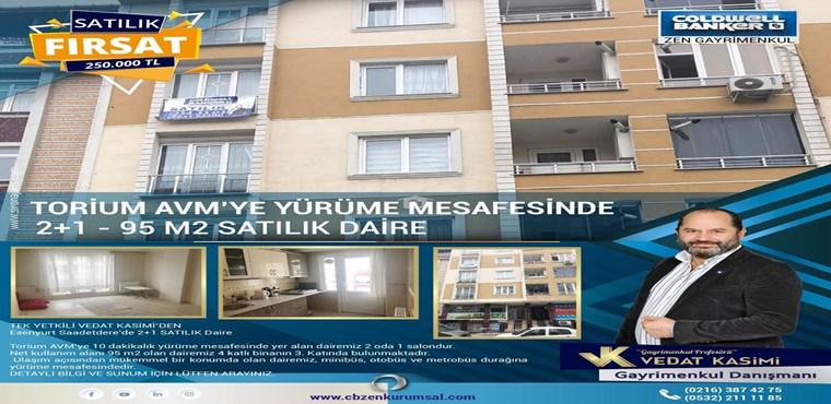 Esenyurt Saadetdere'de TORİUM AVM'YE yakın 2+1 SATILIK Daire