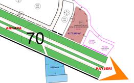 Kayseri-Ankara yolu üzeri 4177 m² akaryakıt istasyonu arsası