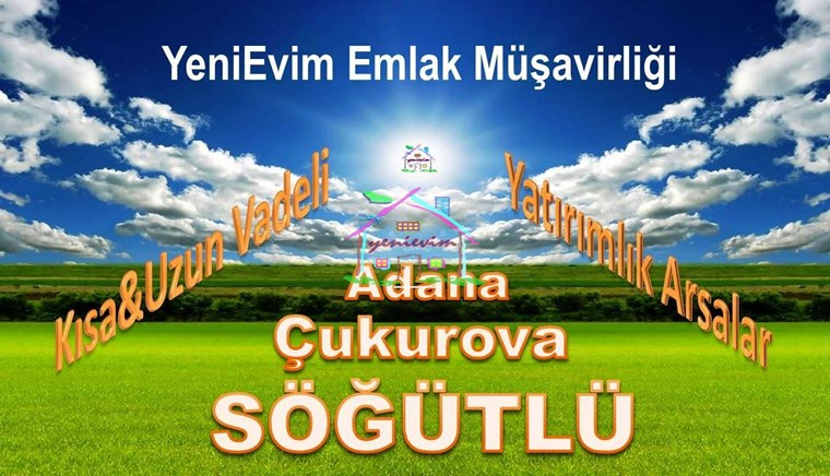 YeniEvim Çukurova Söğütlü'de 14.800 m2 Tarla HİSSELİ PARSEL.