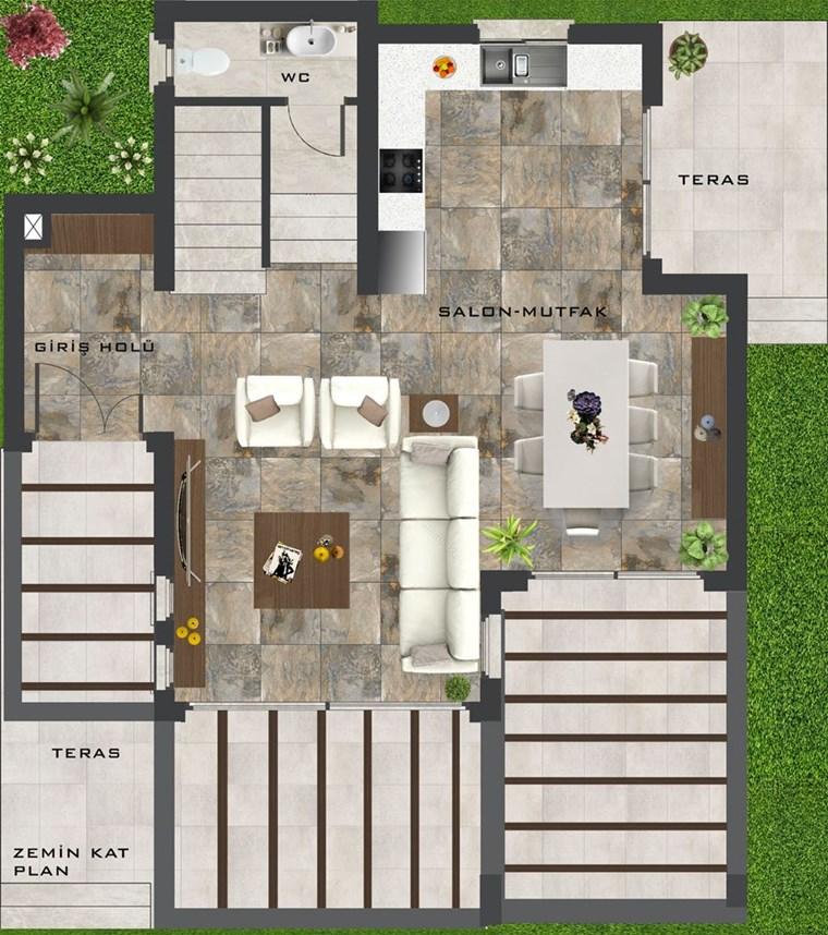 Girne Edremit bölgesinde Satılık 3+1 Villa