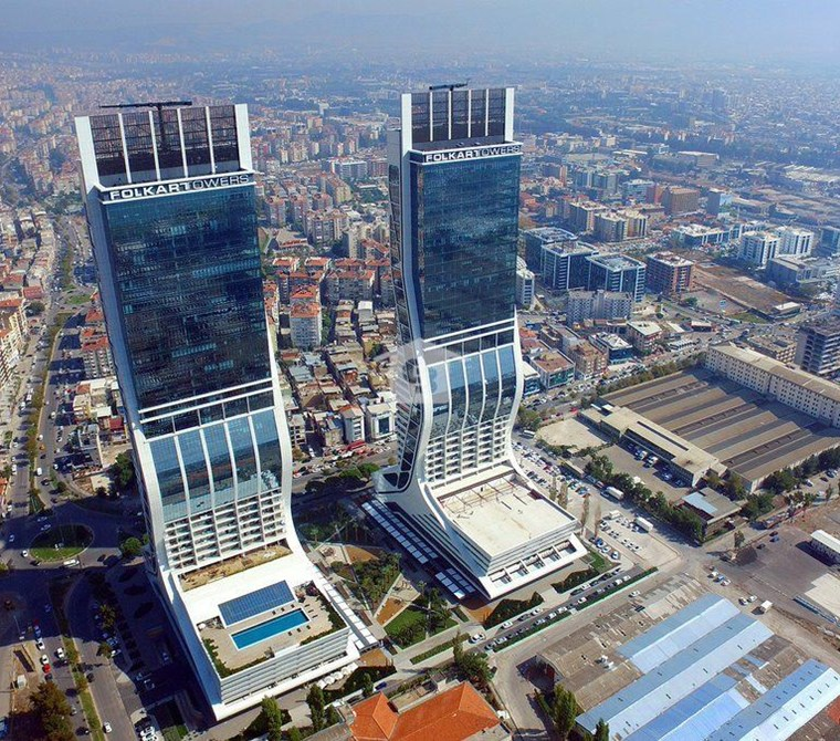 Bayraklı Folkart Towers Eşyalı Kiracılı Satılık 1+1 Daire