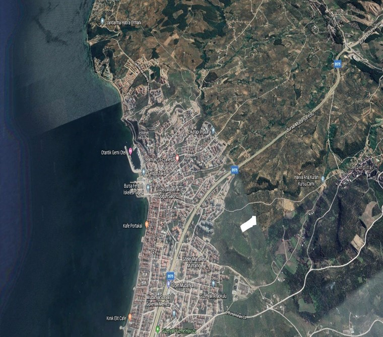 Mudanya'da İmar Sınırı deniz ve Doğa Manzaralı Satılık 14.680 m2