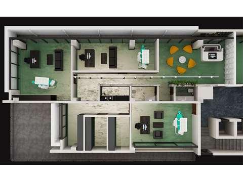 Kuzey Kıbrıs'ta Lefkoşa'nın En İşlek Yerinde Satılık Komple Bina Vaziyet Planı