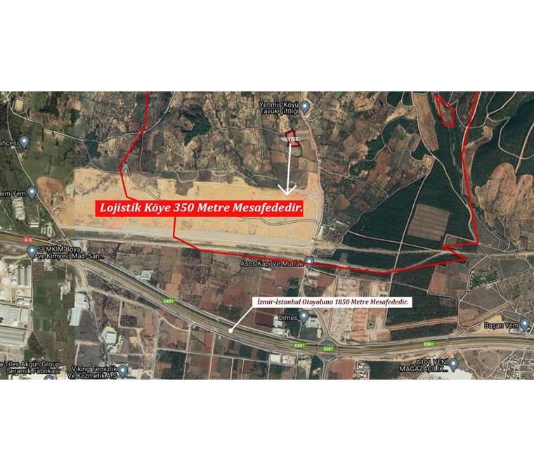 Kemalpaşa Yenmiş'de Lojistik Köye Yakın Satılık 7.692 m2 Arazi