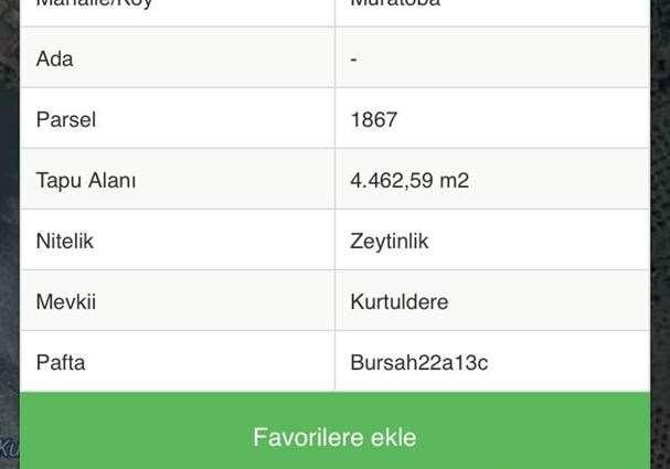 ELFİ DEN GEMLİK KURTUL GÖLETİ MANZARALI 12.416 m2 ZEYİNLİK
