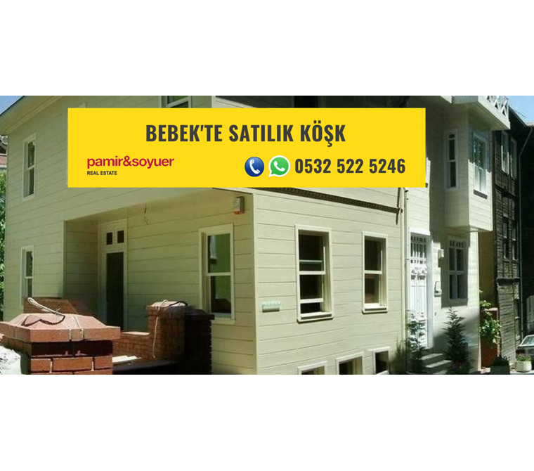 BEBEK'TE SATILIK KÖŞK P217366