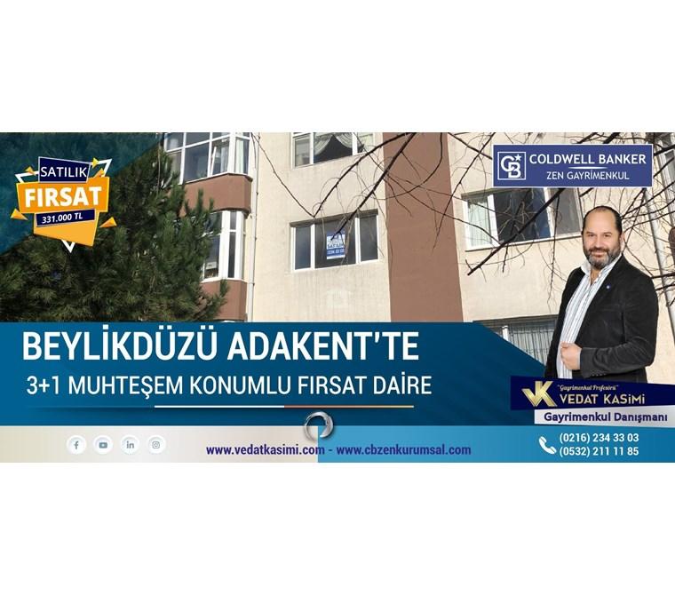 BEYLİKDÜZÜ ADAKENT'TE SATILIK FIRSAT 3+1 DAİRE
