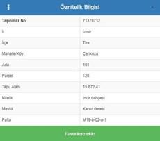 Bankadan Satılık İzmir Tire 'de 15.672 m2 Tarla
