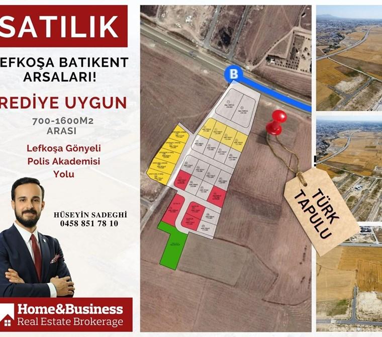 Yatırım Fırsatı başladı..! Lefkoşa Batıkent Satılık Arsalar...
