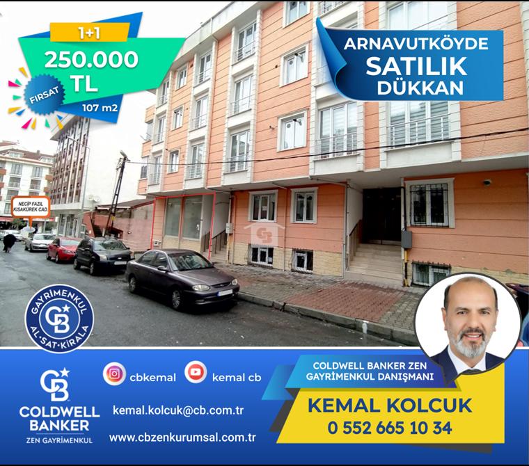 Arnavutköy'de Depolu Dükkan 107 m2