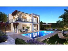 Bodrum Adabükün de Göl Manzaralı 3+1 Sıfır Villa