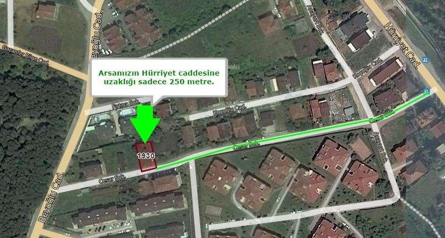 BAHÇECİK SEYMEN'DE 336 m² %30 TABAN OTURUMLU KONUT İMARLI ARSA