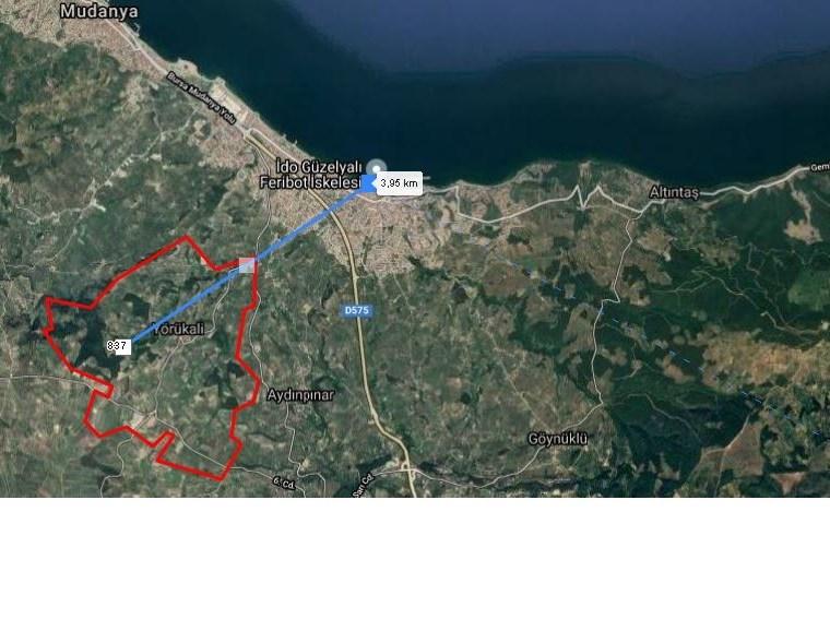 EMLAK HABERCİSİ'NDEN DENİZ GÖRÜR, MUDANYA'YA 4 KM MESAFEDE ARAZİ