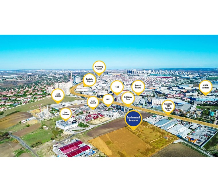 HADIMKÖY YOLUNA 2.PARSEL 16.749 m2 TİCARİ İMARLI ARSA
