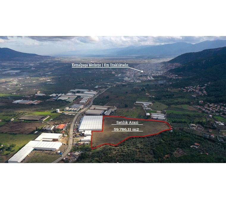 İzmir Kemalpaşa Kızılüzümde Kiralık 60.000 m2 Arazi