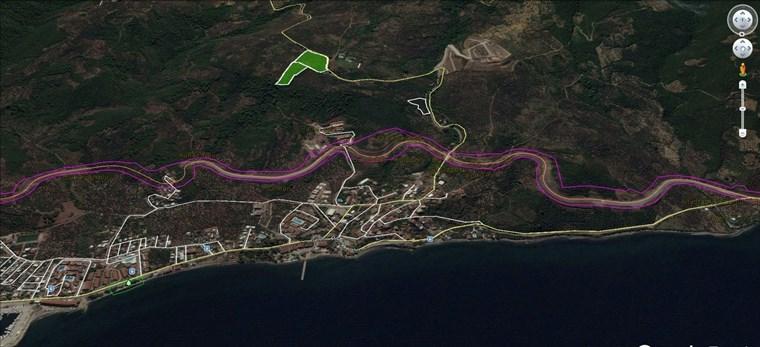 Kurşunlu'da Full deniz Manzaralı Asfalta Cephe Satılık 20.700 m2