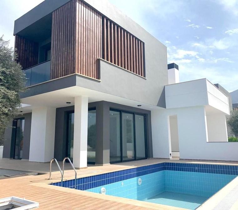 kktc girne ozanköy bölgesinde satılık modern havuzlu villa