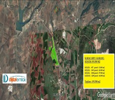 Karacabey'de Asfalta cephe 193.500 m2 Çiftlik Yapmaya elverişli