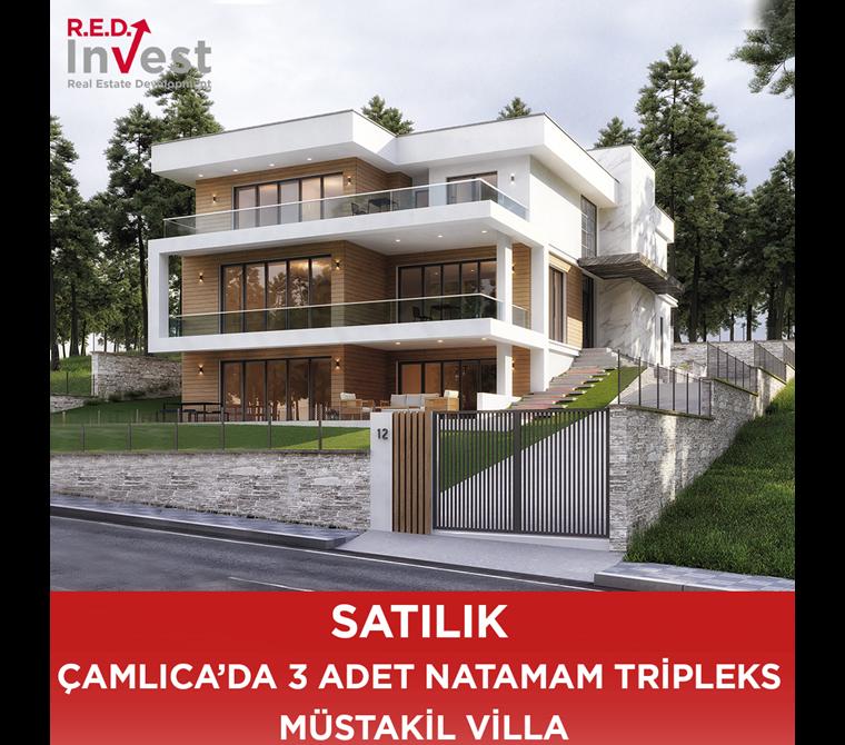 Çamlıca'da 3 Adet Tripleks Mustakil Villa