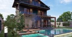Detached triplex villa for sale in Fethiye Ovacik Oludeniz 4+1 150m²
