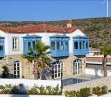 İzmir Çeşme Çiftlik Deniz Manzaralı Özel Yapım Müstakil Taş Ev