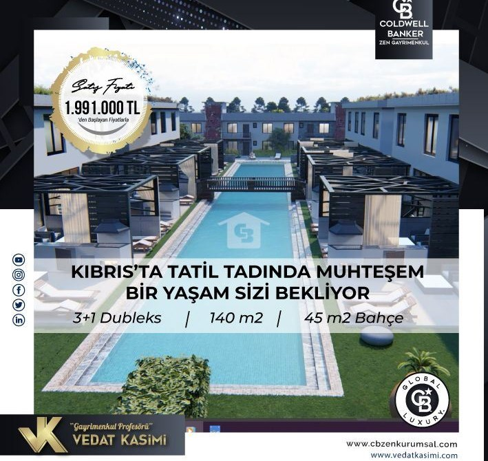 Vedat Kasimi'den Kıbrıs'ta Butik Projede Satılık Villalar