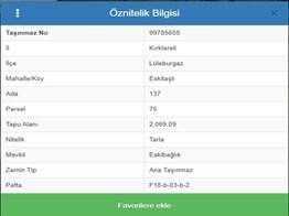 Lüleburgaz Eskitaşlı Köyü Müstakil Parsel Satılık Tarla