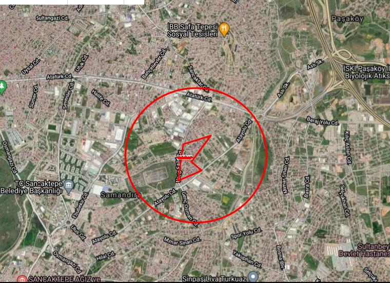 Samandıra Abdurrahmangazi Mahallesinde 90M² den 8 Dairelik Arsa