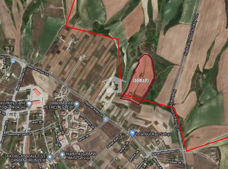 Arnavutköy Dursunköy Mevkii Kanal Manzaralı