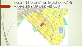 Karaözün'de Satılık 502 m² Villa Parseli