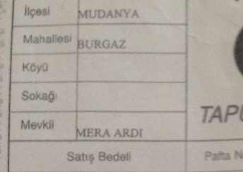 ELFİ'DEN;MUDANYA BURGAZ'DA 3.660 M2 İMARLI, DENİZ MANZARALI ARSA