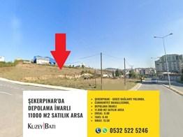 ŞEKERPINAR'DA DEPOLAMA İMARLI 11000 M2 SATILIK ARSA P-211892